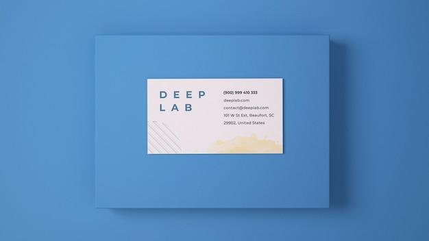 Wizytówka premium z edytowalnym makiety koloru tła