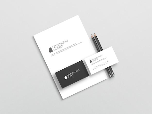 Wizytówka z makietą papieru firmowego