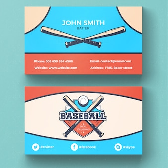 Wizytówki baseball