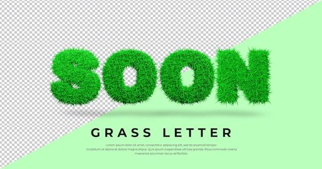 Wkrótce tekst listu z projektem trawy 3d