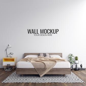 Wnętrze sypialni ściany makieta tło
