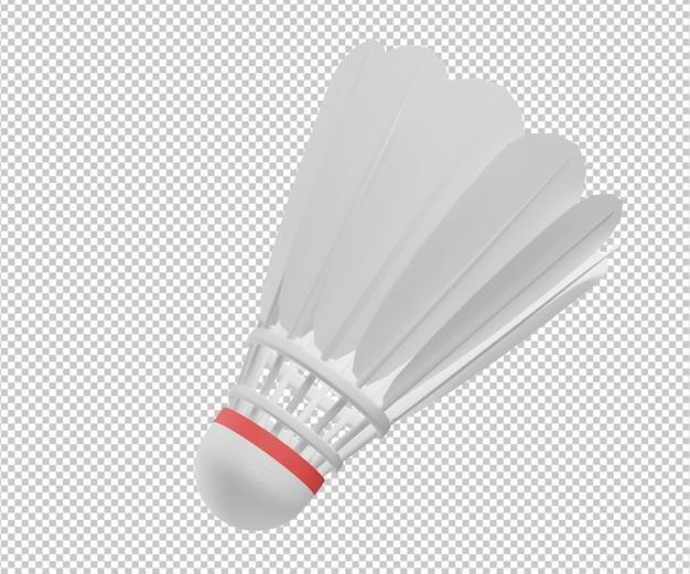 Wolant 3d ilustracja projekt renderowania na białym tle