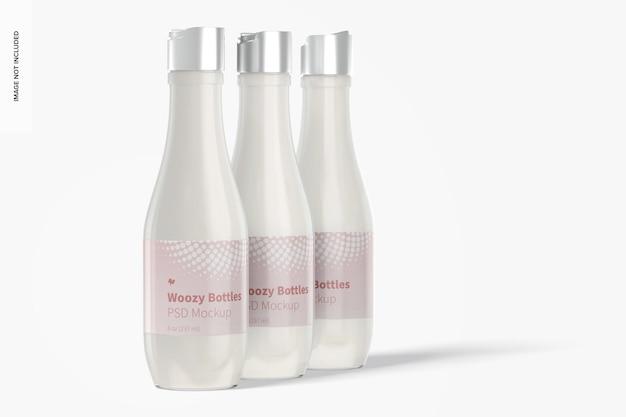 Woozy zestaw butelek z makietą górnej nasadki dysku