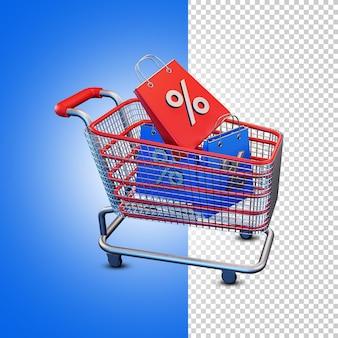 Wózek na zakupy alpha background psd