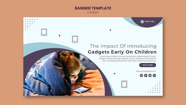 Wpływ gadżetu na styl banera dla dzieci