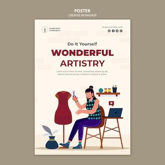 Wspaniały szablon plakatu artyzmu
