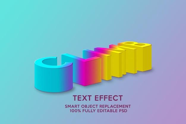 Wspinać się na szablon efektu tekstowego