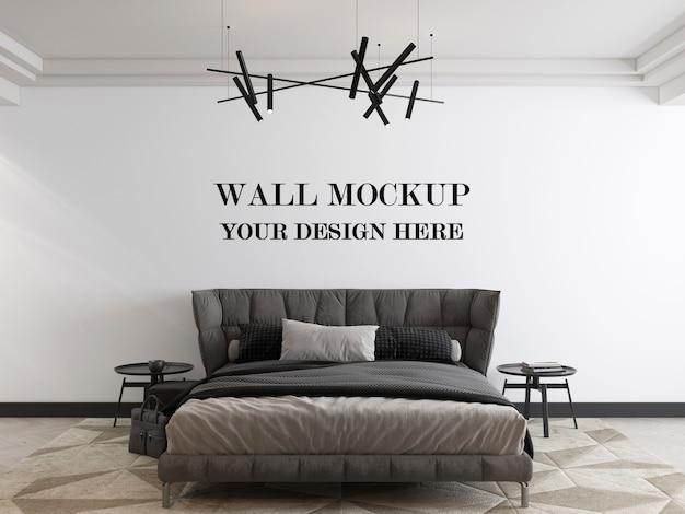 Współczesna makieta sypialni w stylu renderowania 3d