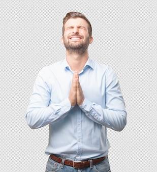 Współczesny człowiek modlący się
