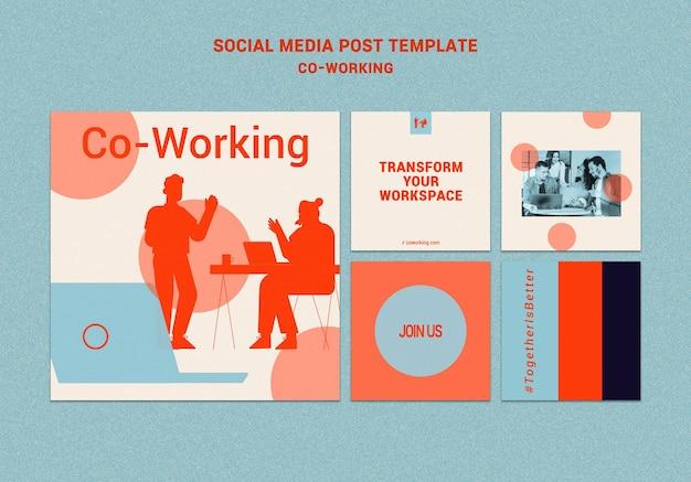 Współpracujące posty w mediach społecznościowych