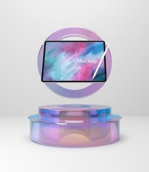 Wspornik szklany z tabletem