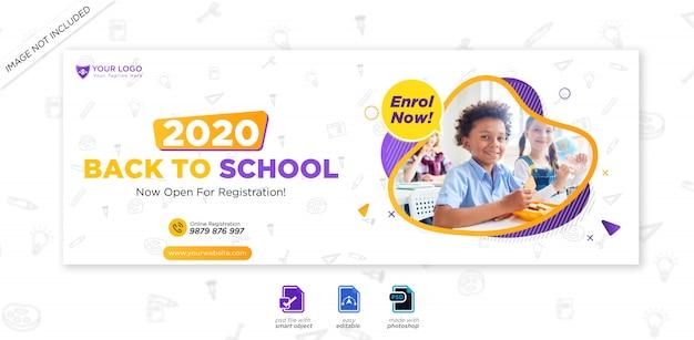 Wstęp do edukacji szkolnej pokrywa osi czasu facebook i szablon sieci web