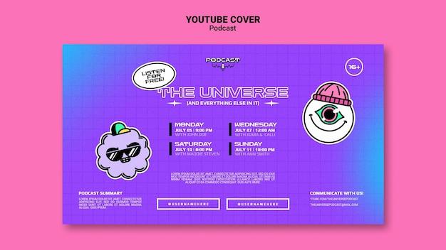 Wszechświat Podkasr Okładka Youtube Premium Psd