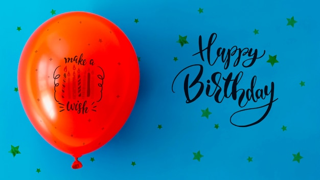 Wszystkiego najlepszego z konfetti i balon