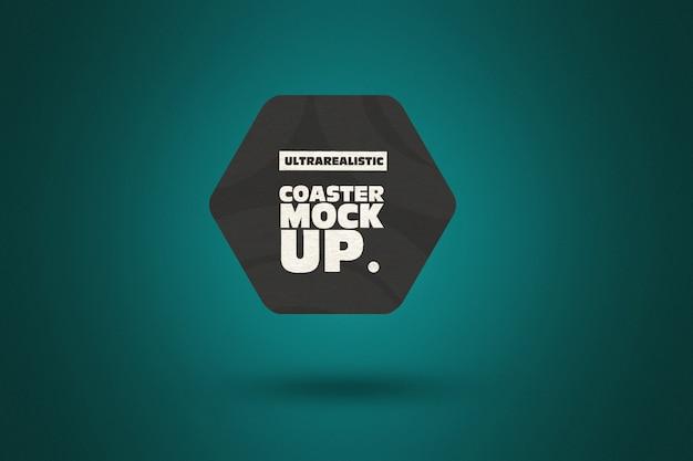 Wyczyść makietę coaster hexagon