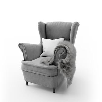Wygodne nowoczesne krzesło na białym tle