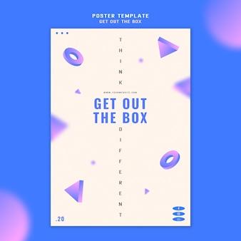 Wyjmij szablon plakatu koncepcyjnego pudełka