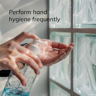 Wykonywać higienę rąk często makieta szablonów społecznościowych