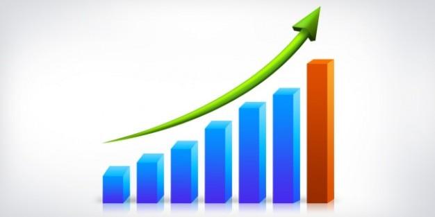 Wykres wzrostu biznesu psd