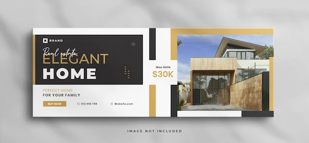 Wymarzony dom na sprzedaż szablon okładki na facebooku i baner internetowy