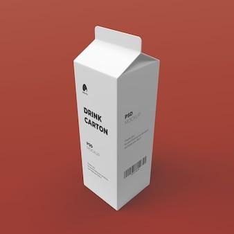 Wypij opakowanie kartonowe na makietę mleka