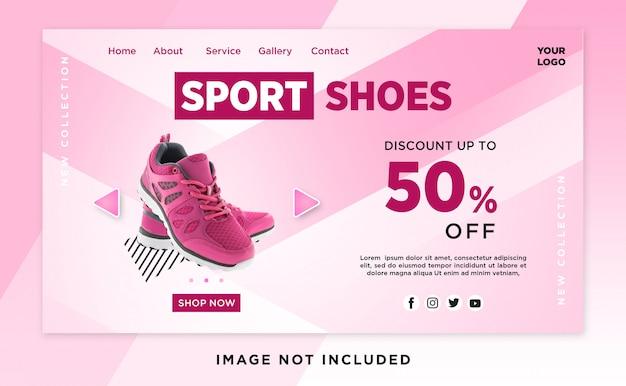 Wyprzedaż butów sportowych wzór nagłówka strona lądowa