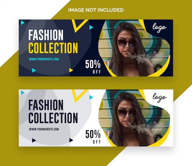 Wyprzedaż moda facebook oś czasu transparent banner