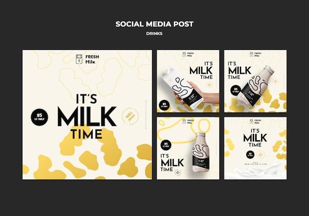 Wyprzedaż napojów post w mediach społecznościowych