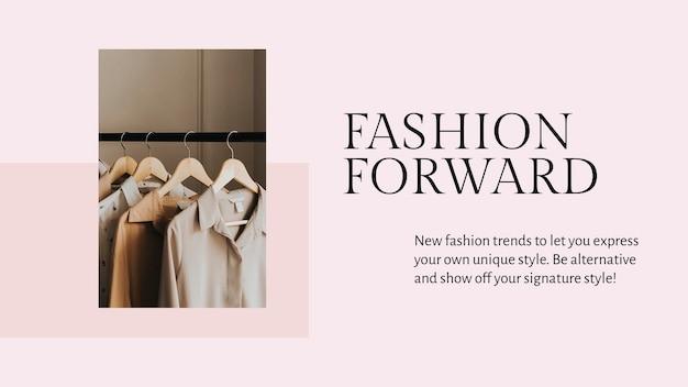 Wyraź swój szablon prezentacji psd w stylu dla mody