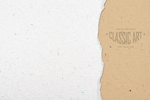 Wyrwana makieta tekstury papieru