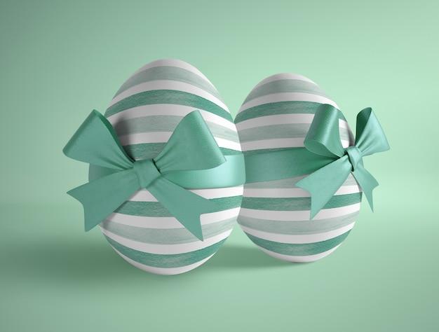 Wysoki kąt zapakowany w dwa jajka