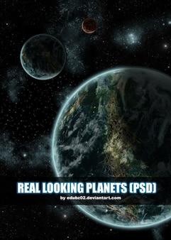 Wysokiej jakosci planety psd
