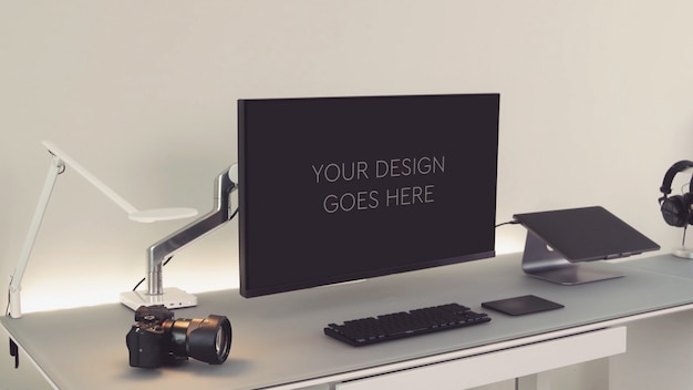 Wyświetlacz monitora komputera