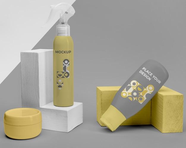 Wyświetlanie makiet produktów kosmetycznych
