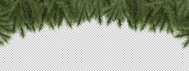 Wytnij sosnowe gałęzie