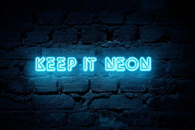Wyznacza tło neon