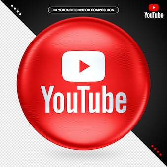 Youtube red ellipse 3d