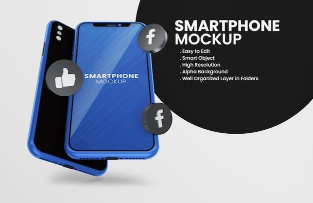 Z 3d Render Snapchat Ikona Smartfona Makieta Premium Psd