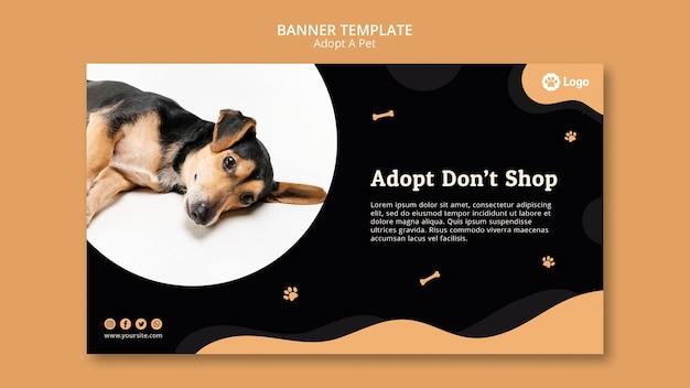 Zaakceptuj szablon transparentu dla zwierzaków domowych