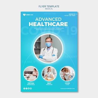 Zaawansowany szablon ulotki dotyczącej opieki zdrowotnej