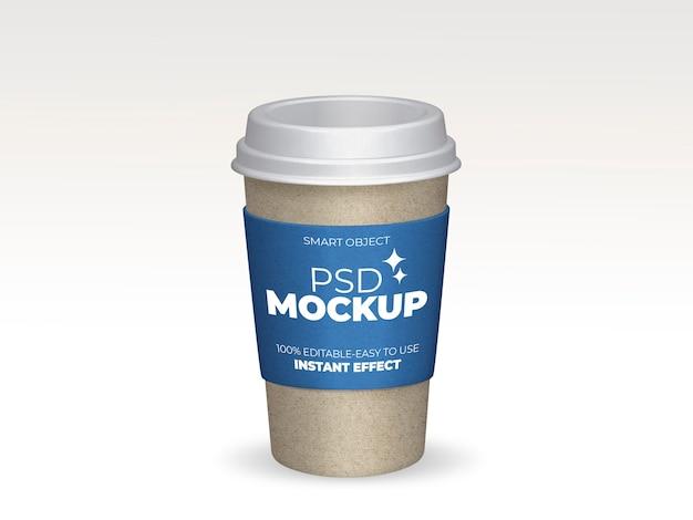 Zabierz makietę filiżanki kawy