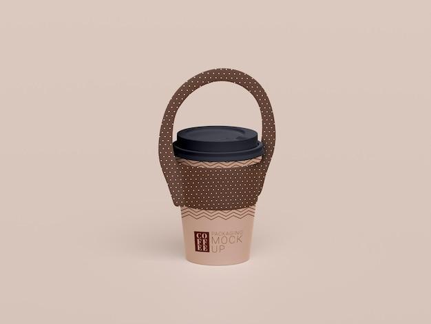 Zabierz makietę jednorazowego kubka do kawy