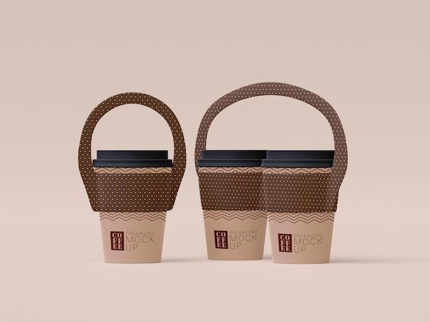 Zabierz makietę jednorazowej filiżanki kawy