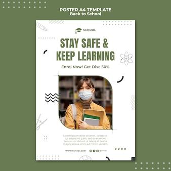 Zachowaj szablon plakatu do nauki