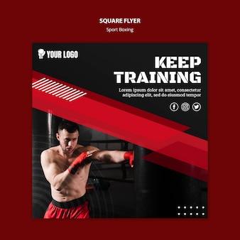 Zachowaj szablon wydruku ulotki treningowej