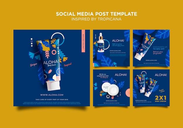 Zainspirowany postem w mediach społecznościowych tropicana