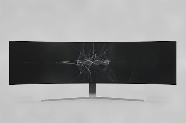 Zakrzywione mockup telewizji