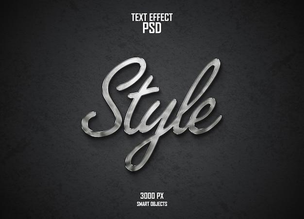 Zakrzywiony efekt tekstowy design srebrny