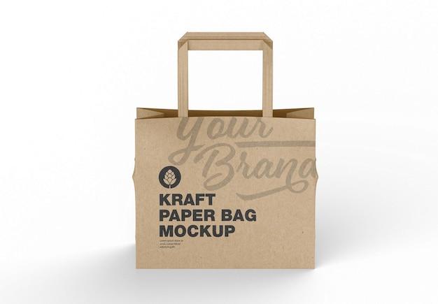 Zakupowa makieta papierowej torby papierowej
