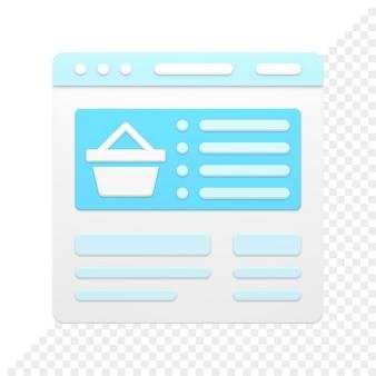 Zakupy 3d ikona